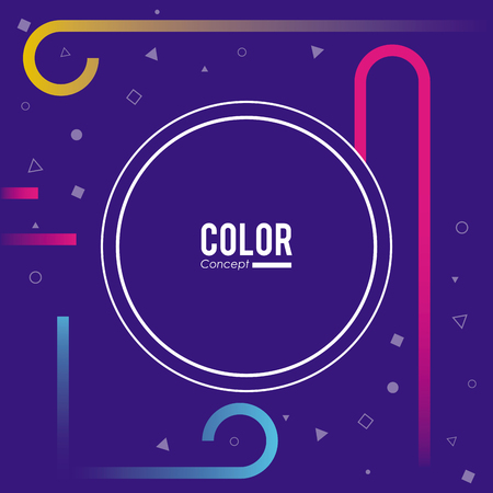 Color concept background frame with colorful geometric vector illustration graphic design Çizim
