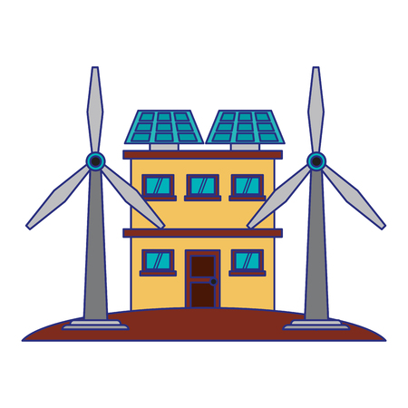 Green and renewable energy symbols vector illustration graphic design 일러스트