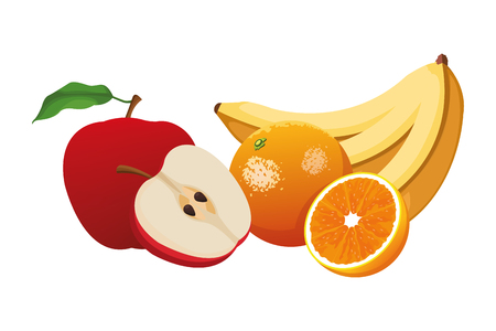 fruits icon cartoon vector illustration graphic design