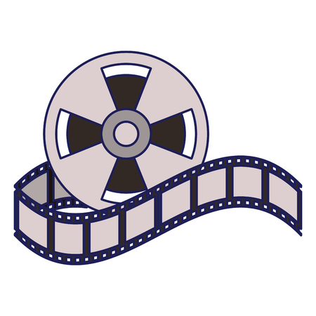 Cinema reel equipment cartoon vector illustration graphic design