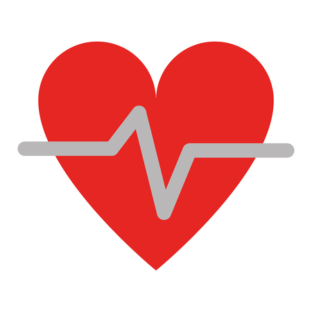 Heart Pulse Health Isolated vector illustration graphic design Imagens - 122788298