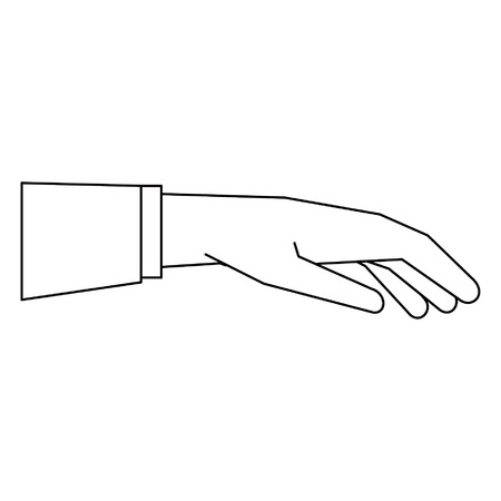 Hand giving business suit releasing object isolated vector illustration graphic design Banco de Imagens - 122788300