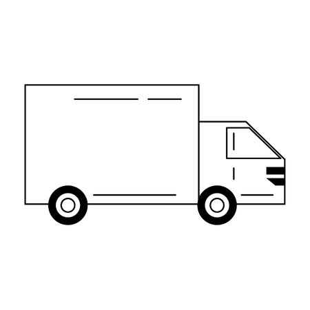 Cargo truck vehicle for deliveries isolated vector illustration graphic design