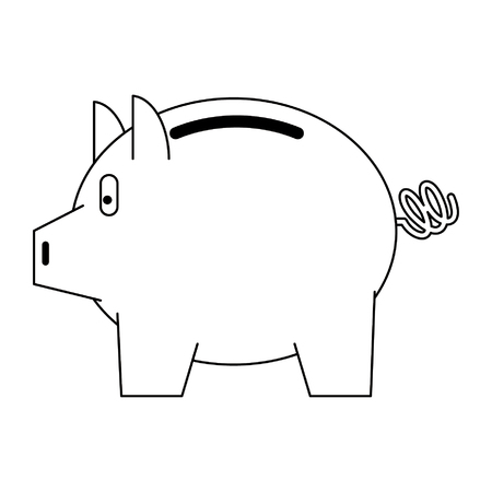Piggybank money savings isolated vector illustration graphic design