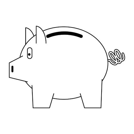 Piggybank money savings isolated vector illustration graphic design