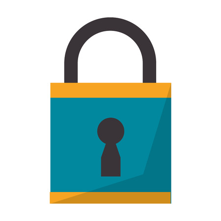 Security padlock closed isolated vector illustration graphic design