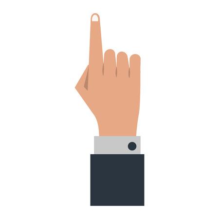 Businessman hand pointing up symbol vector illustration graphic design 向量圖像