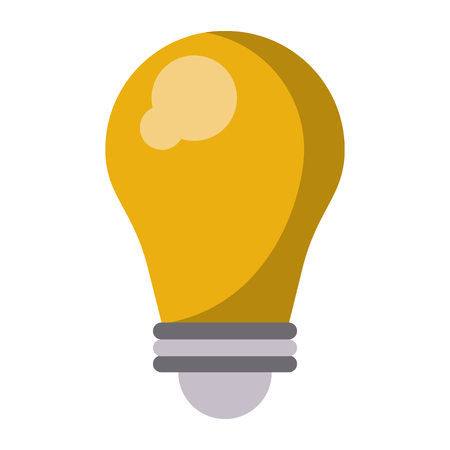 Lightbulb creative idea isolated vector illustration graphic design
