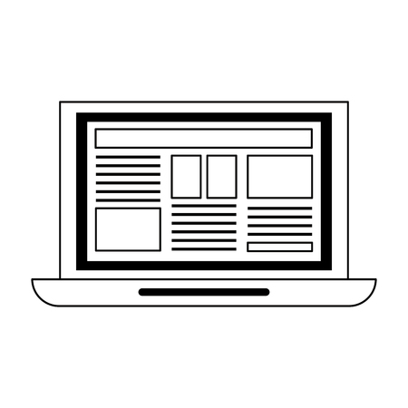 Laptop computer technology isolated vector illustration graphic design