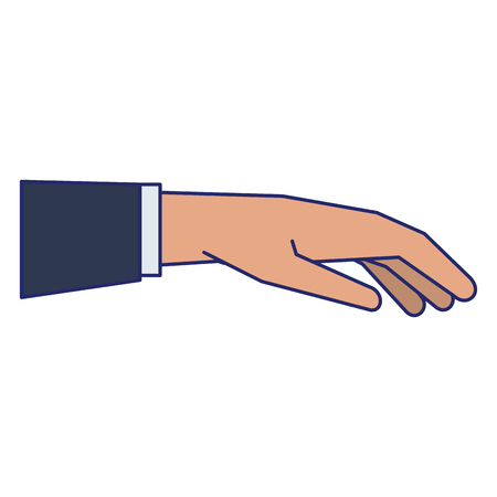 Hand giving business suit releasing object isolated vector illustration graphic design Banco de Imagens - 122790422