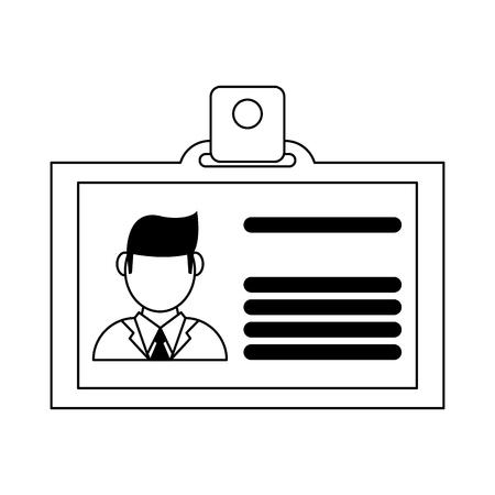 Business ID card symbol vector illustration graphic design