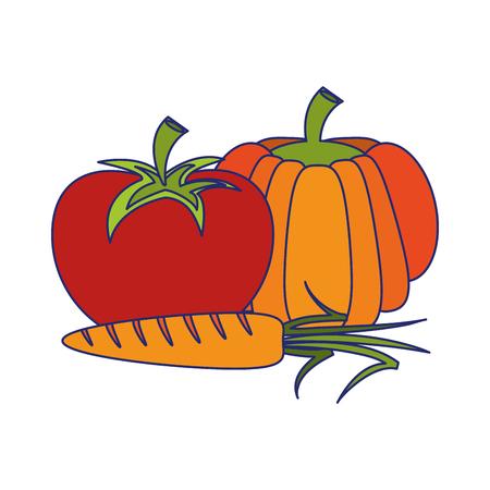 Vegetables healthy food cartoon vector illustration graphic design