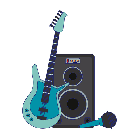 Music instrument and musical studio equipment vector illustration graphic design Ilustração Vetorial