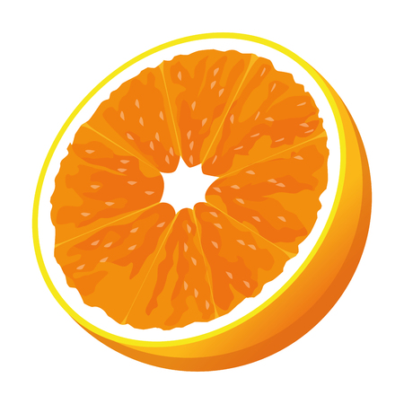 half orange icon cartoon isolated vector illustration graphic design Stok Fotoğraf - 122727996