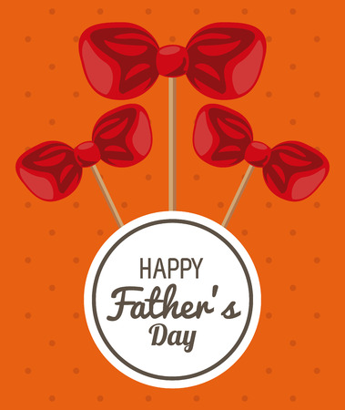 Happy fathers day card with cute cartoons vector illustration graphic design Фото со стока - 122728090