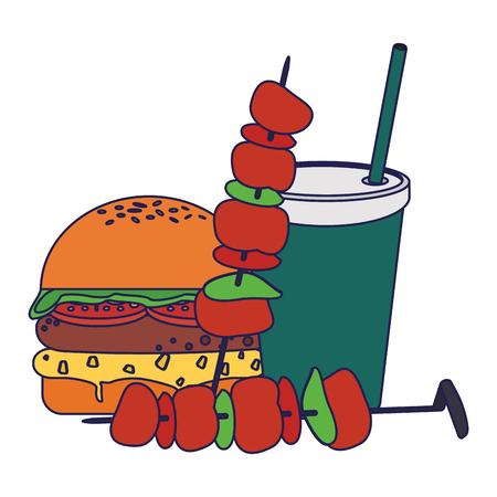 Fast food delicious food restaurant concept vector illustration graphic design Ilustrace