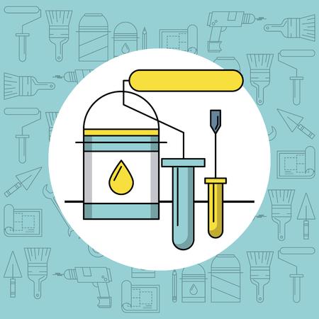 Home improvement and tools symbols vector illustration graphic design Illustration
