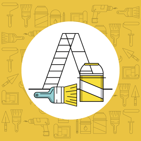 Home improvement and tools symbols vector illustration graphic design Ilustração