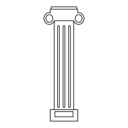 Greek column architect building vector illustration graphic design Reklamní fotografie - 122675501