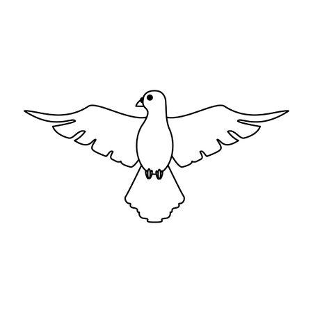 Dove peace bird cartoon vector illustration graphic design Vectores