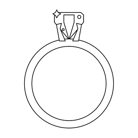 Wedding ring with diamond isolated vector illustration graphic design 向量圖像