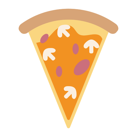Pizza with mushrooms italian food vector illustration graphic design 일러스트