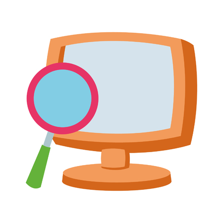 Computer screen and email symbol vector illustration graphic design