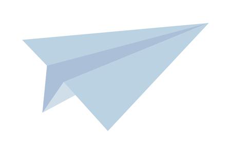 paper plane icon isolated vector illustration graphic design
