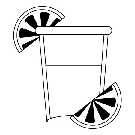 Tequila shot cup symbol vector illustration graphic design Ilustração