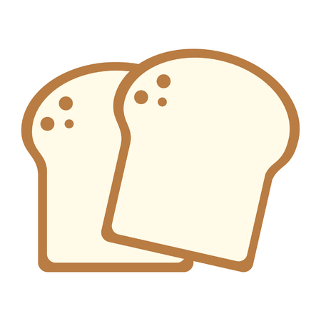 Bread slices wheat food cartoon vector illustration graphic design