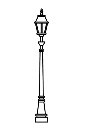 streetlight icon isolated black and white vector illustration graphic design