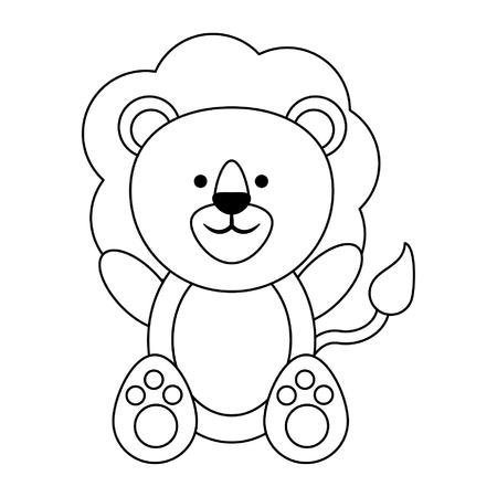 Lion cute animal cartoon vector illustration graphic design