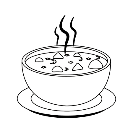 Tacos soup hot food vector illustration graphic design