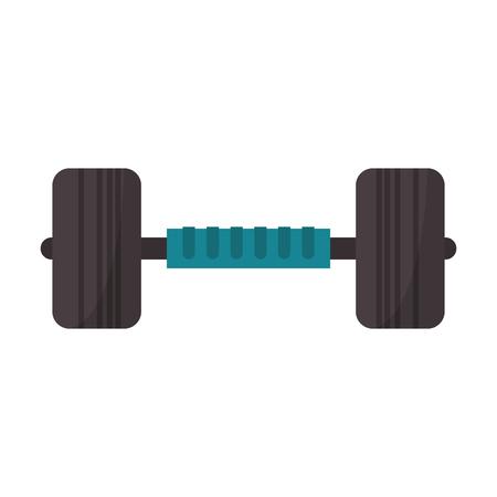 Dumbbell gym equipment symbol vector illustration graphic design 向量圖像