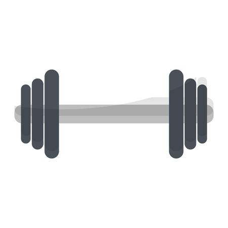 Gym dumbbell sport equipment vector illustration graphic design