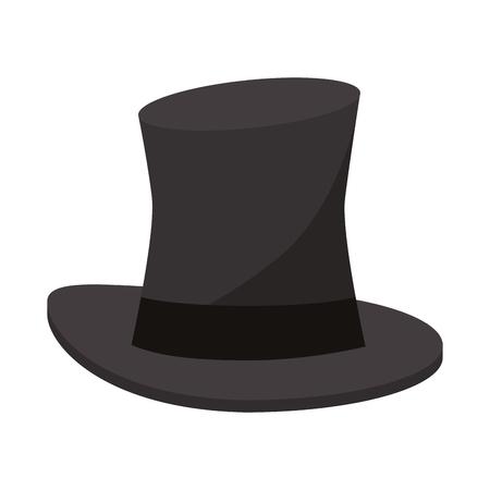 Magicien chapeau cartoon isolé vector illustration graphisme