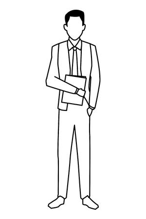 executive business man cartoon vector illustration graphic design