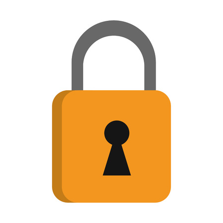 Padlock security symbol isolated vector illustration graphic design
