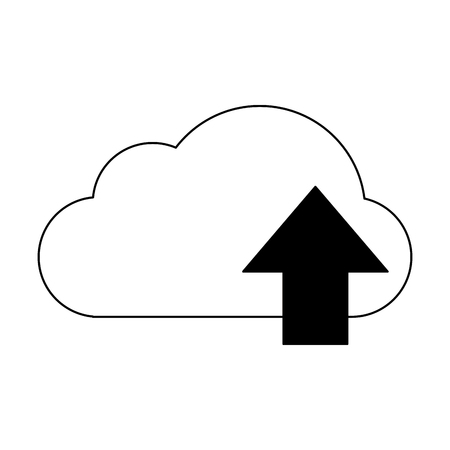 Cloud computing upload symbol vector illustration graphic design