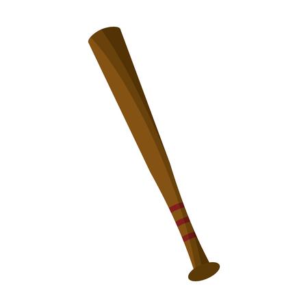 Baseball bat sport cartoon vector illustration graphic design Standard-Bild - 121894721