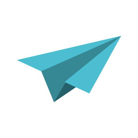 Paper plane symbol isolated vector illustration graphic design