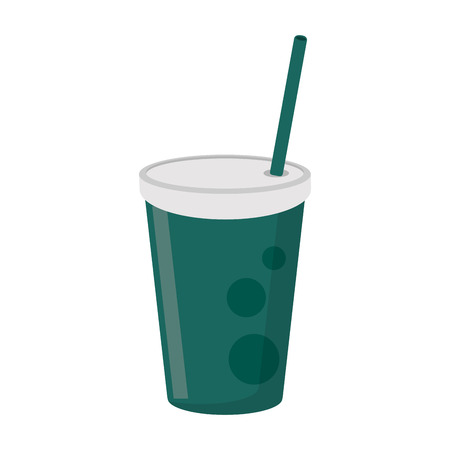 Soda cup with straw drink