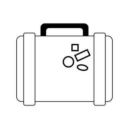 Travel suitcase symbol isolated vector illustration graphic design