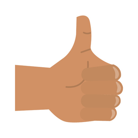 thumb up hand cartoon symbol vector illustration graphic design