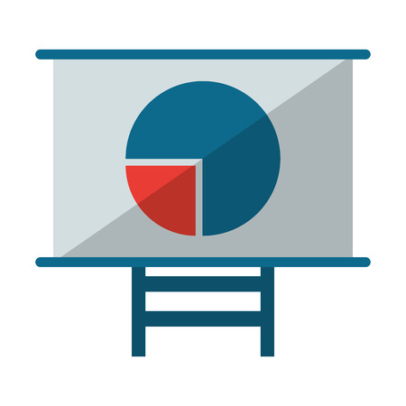 Business graph on whiteboard symbol vector illustration graphic design