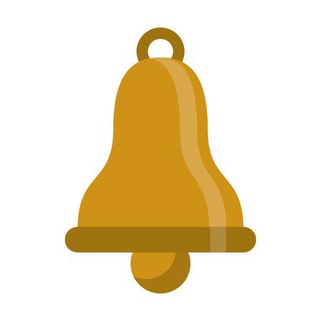 Bell ring symbol cartoon isolated vector illustration graphic design