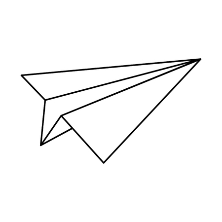 paper plane icon isolated black and white vector illustration graphic design Illustration