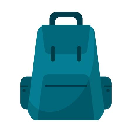 Backpack travel luggage symbol vector illustration graphic design