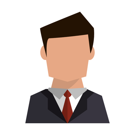 Businessman avatar faceless profile vector illustration graphic design