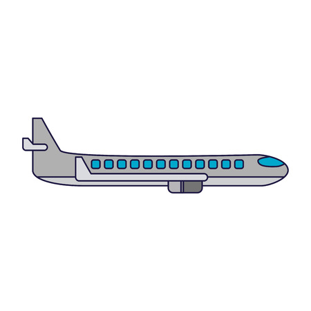 Airplane jet sideview symbol vector illustration graphic design vector illustration graphic design